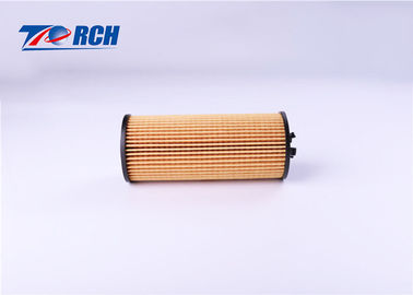 Yellow Engine Oil Filter , HYUNDAI Paper Oil Filter 99.7% Filtration Efficiency